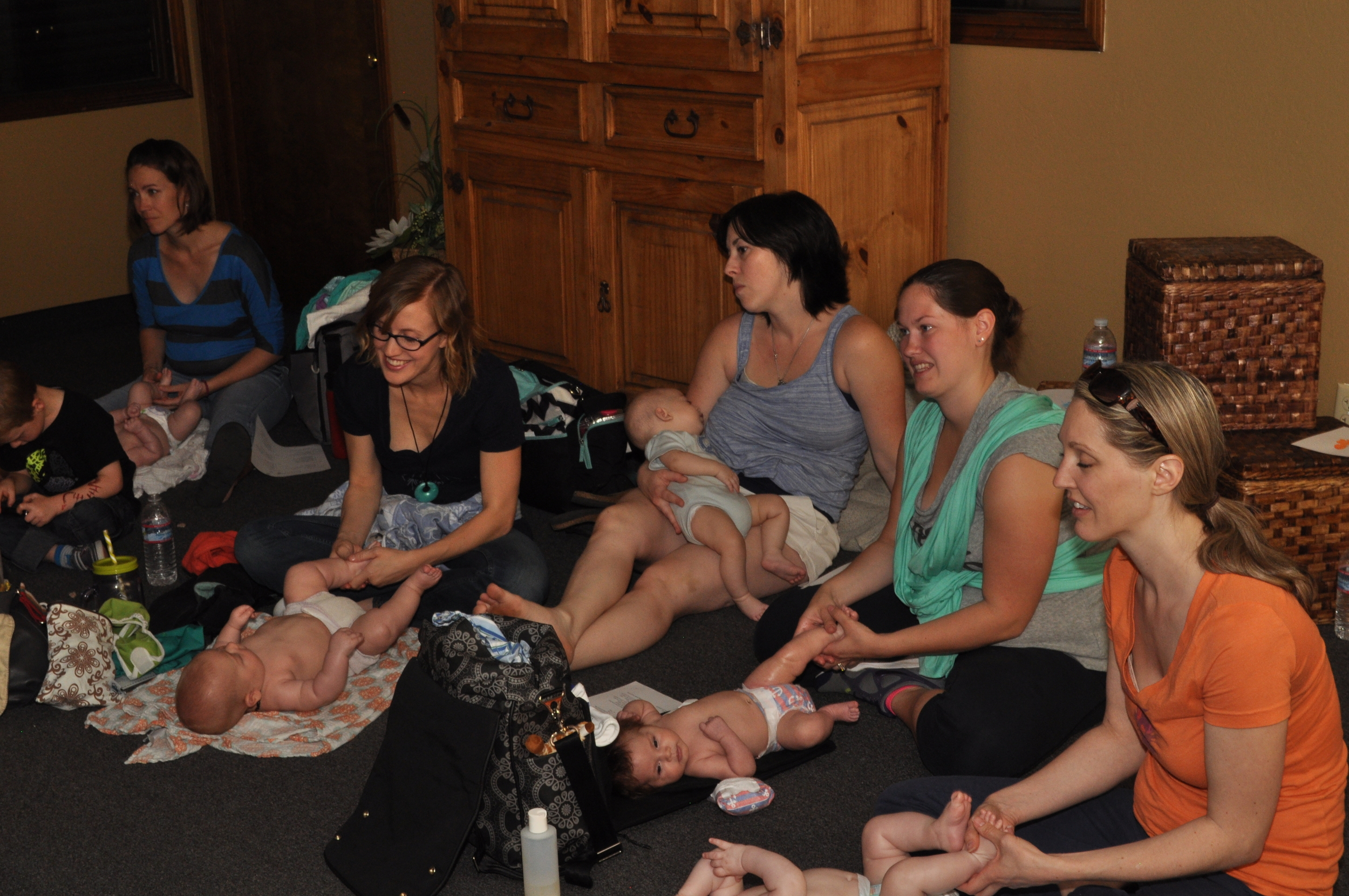 The babies seem to be enjoying this class from Bump to Breast Fest 2015!