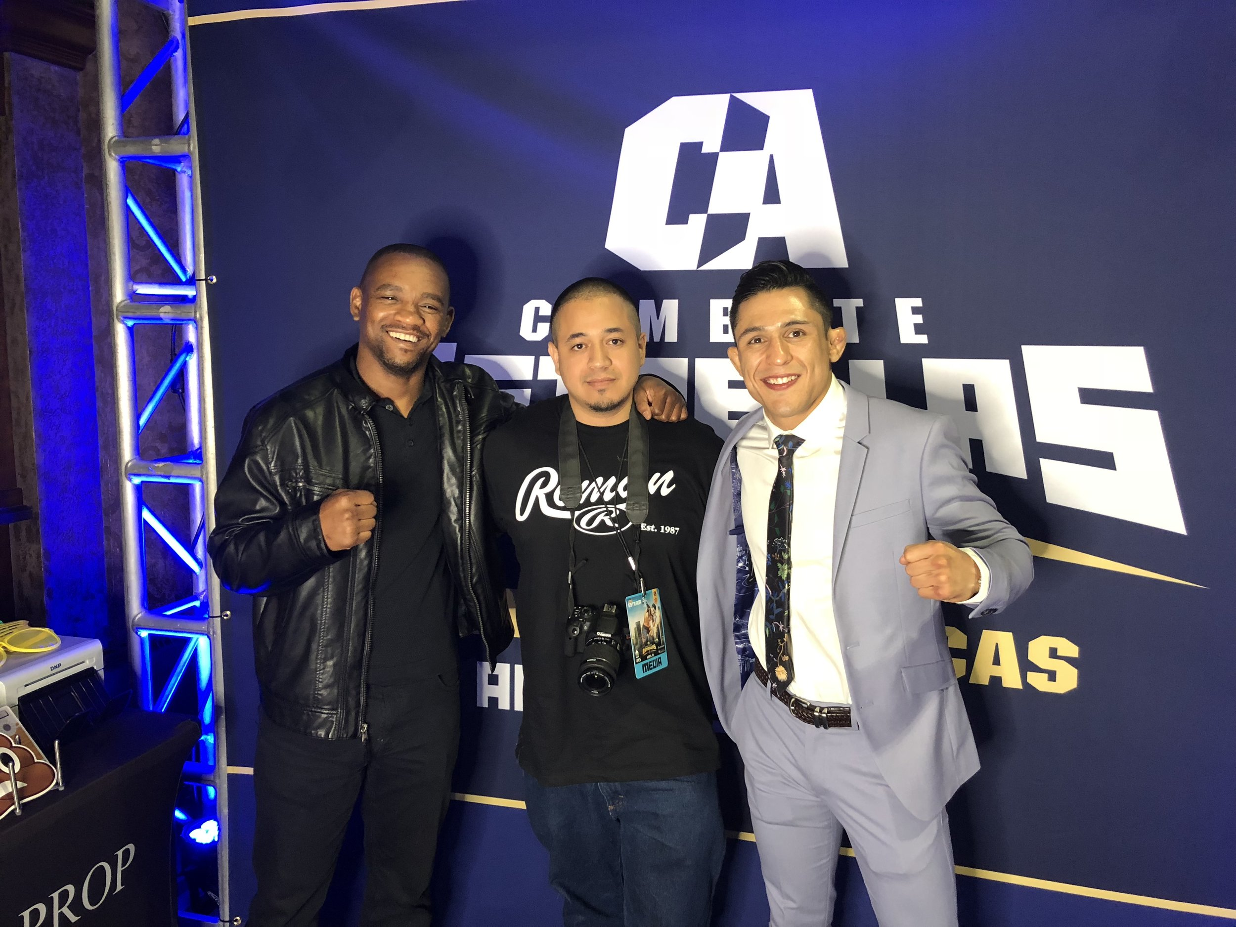 Ray Roman, and MMA Fighters Yves Edwards, Erik Perez at COMBATE ESTRELLAS I 2.JPG