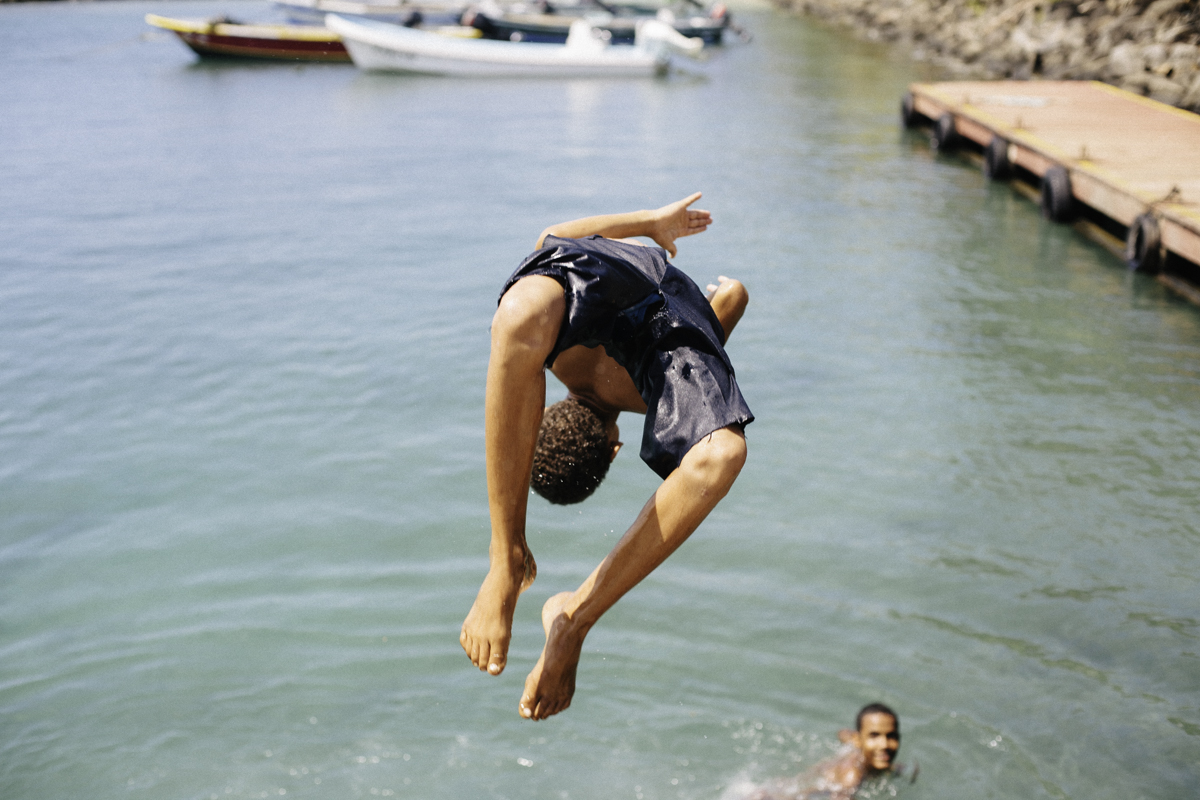 water jump cornisland