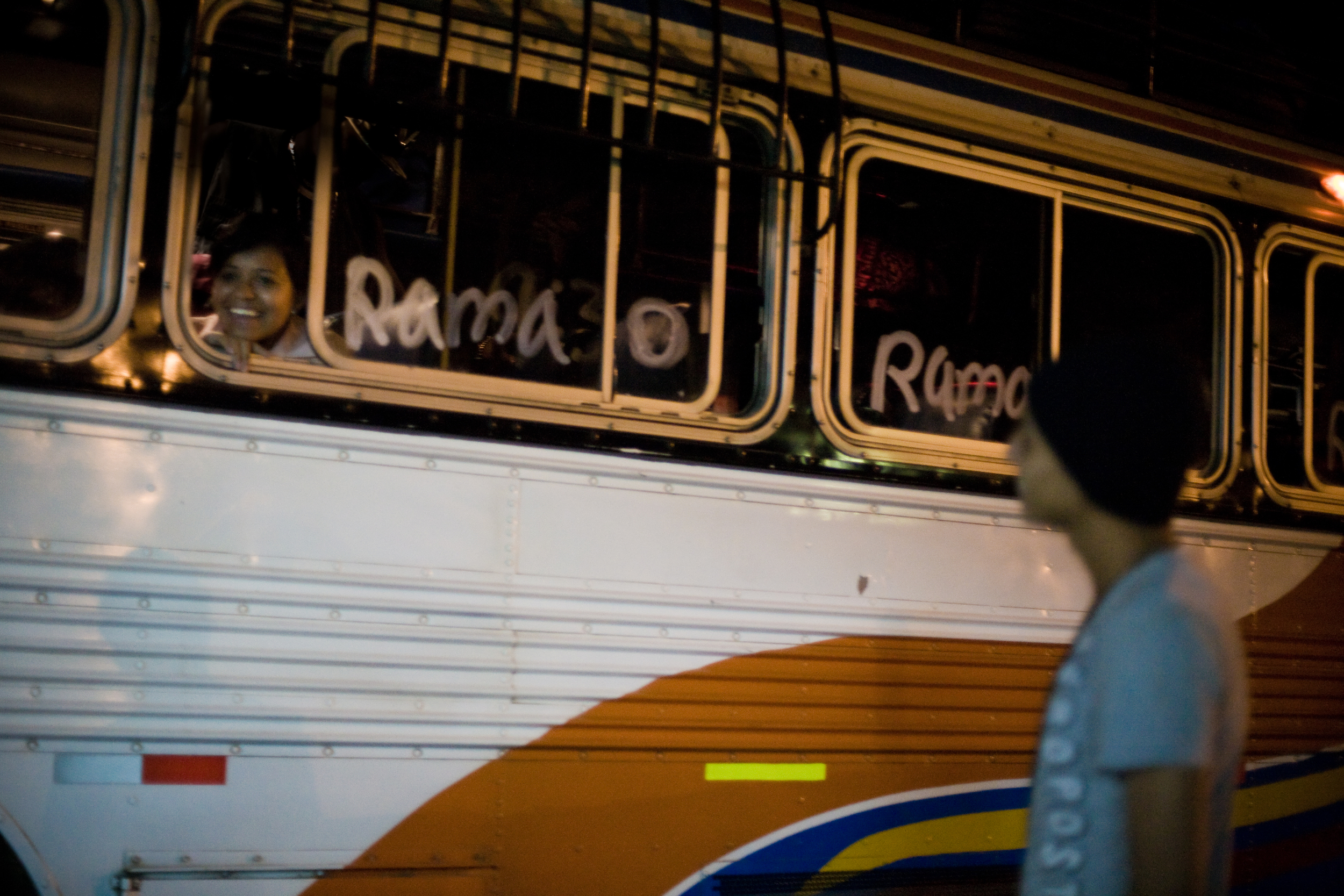 Travel by land: The night bus to El Rama. It leaves Managua at 9.30pm, lurching its way to the Rama docks. Getting sleep on the bus is highly unlikely. We arrive in Rama at 3am.