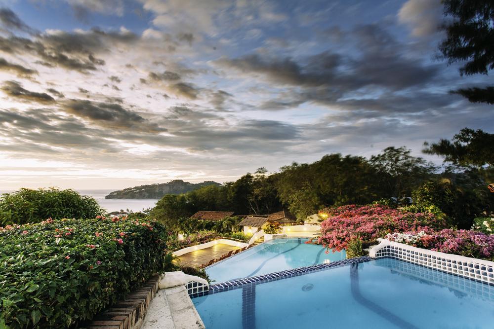 View of San Juan Bay fromone of Pelican Eyes Resort's pools