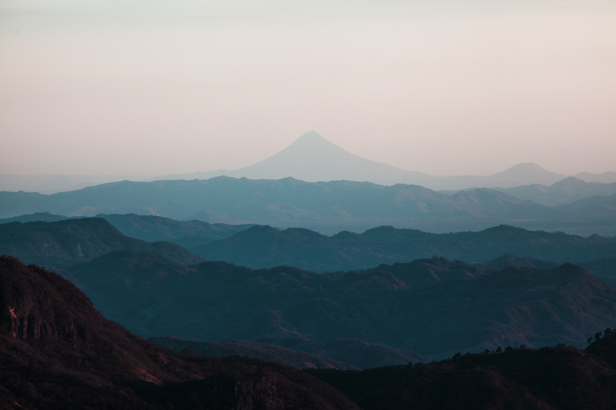 View of volcano San Cristobal from Cusmapa