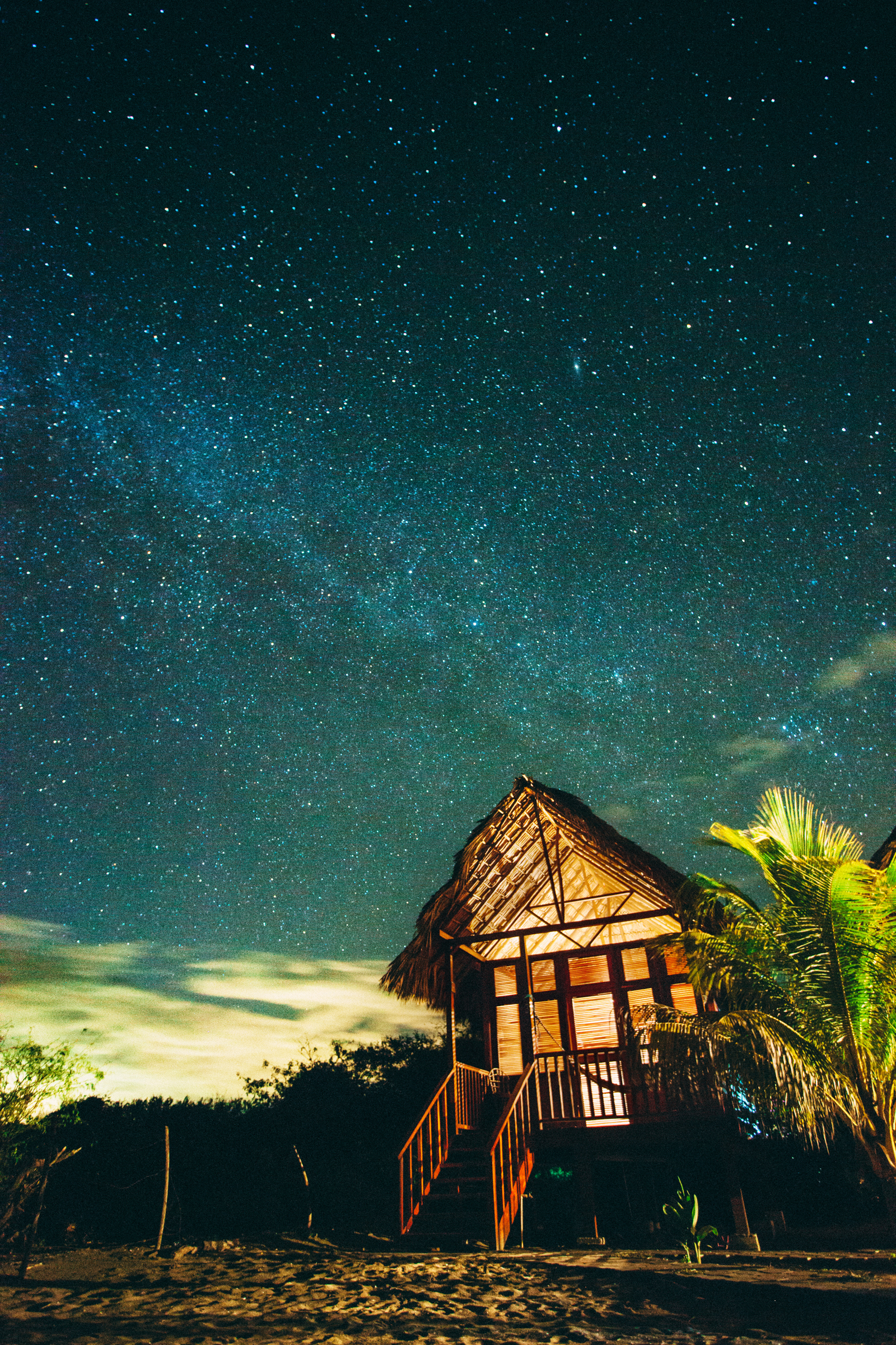 nicaragua night beach