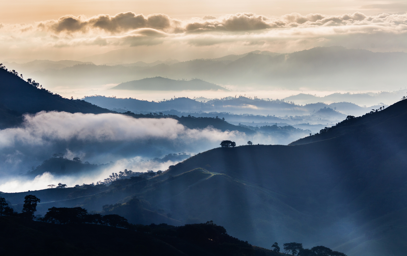 Early in the morning -Mountains surrounding Quilalí.