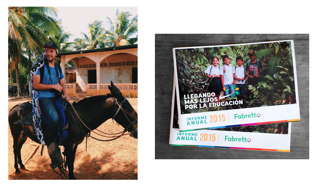 On the left - That's how we roll.      On the right - Fabretto Foundation Annual report cover with pictures that I took in RAAS. You Can see the whole version   here  (click)