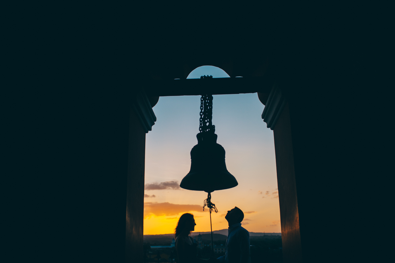 bell tower Nicaragua engagement