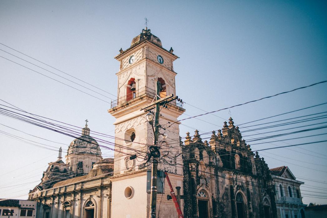 La merced church view Nicaragua
