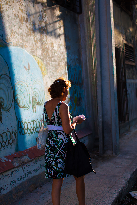 Portrait on street Havana