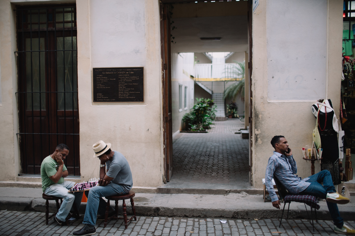 Playing chess Havana cuba