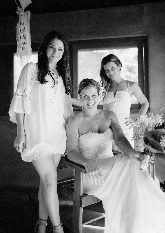 Bride bridesmaids wedding Nicaragua