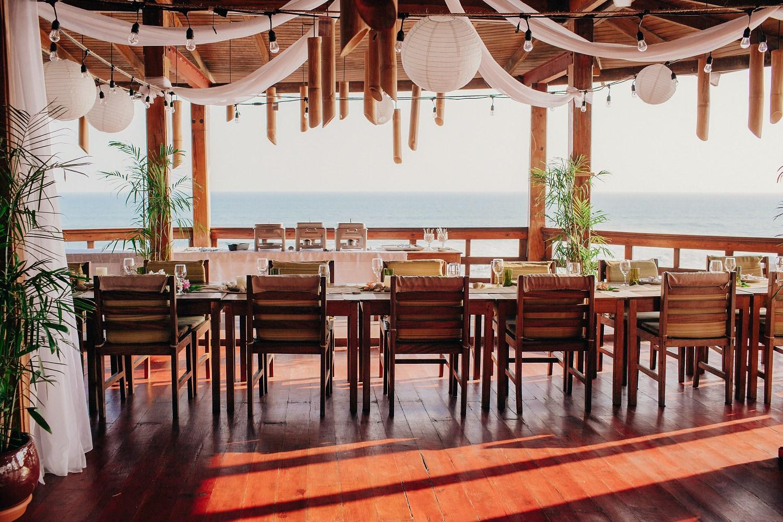 Beach wedding venue decoration Nicaragua.