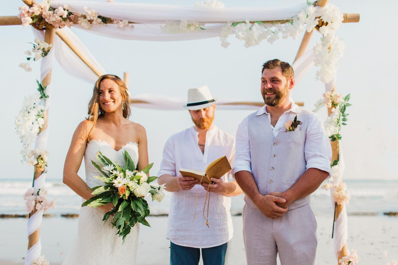 Newlyweds Nicaragua beach wedding photography