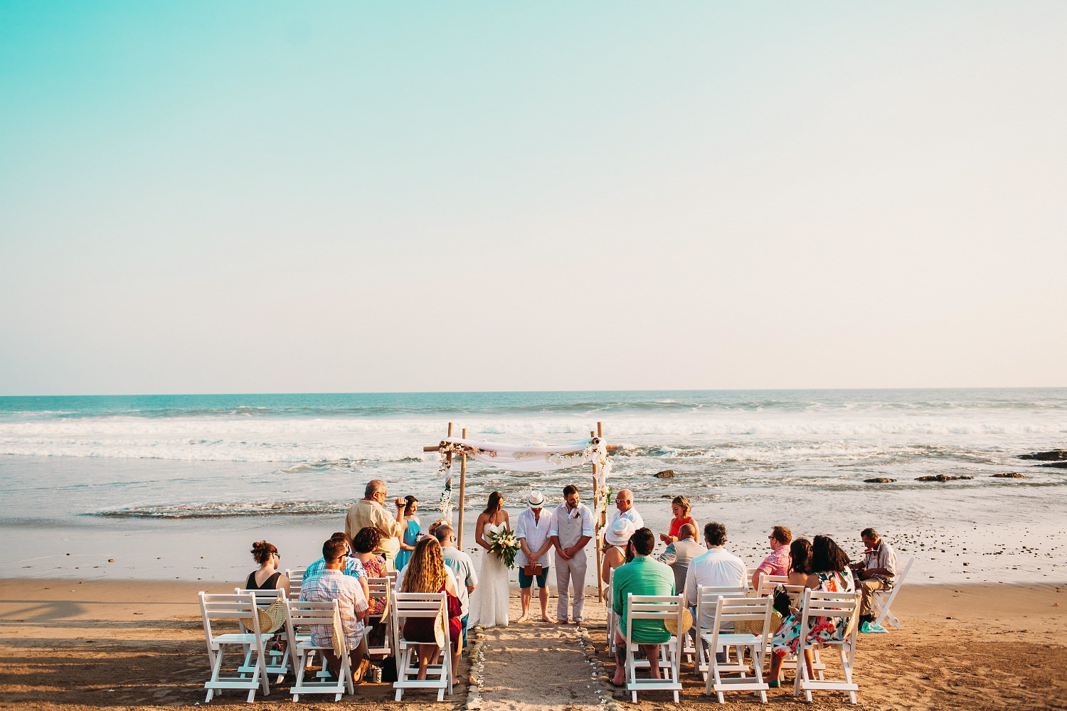 Beach wedding venue that took place in Popoyo, Nicaragua. Photography: Kuba Okon