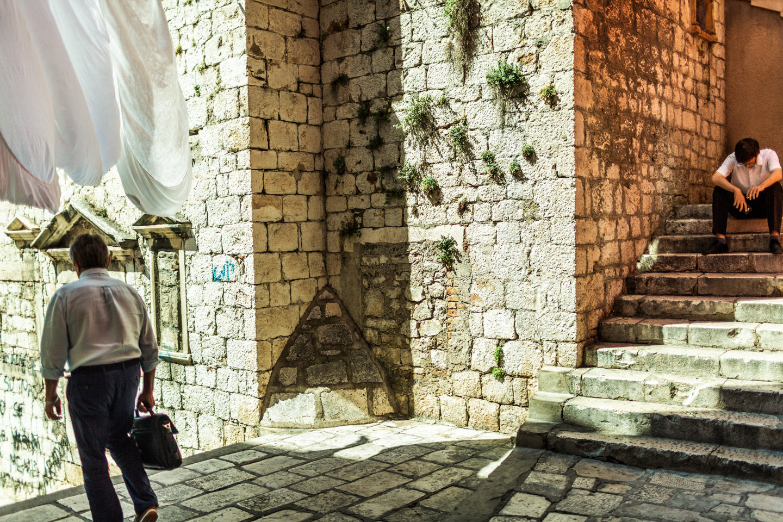 Sibenik stone walls