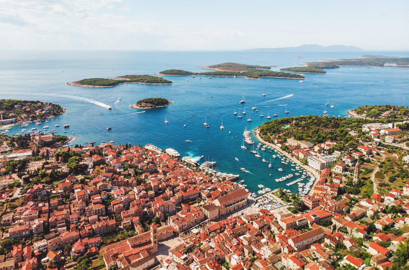 Hvar town and Pakleni Islands.