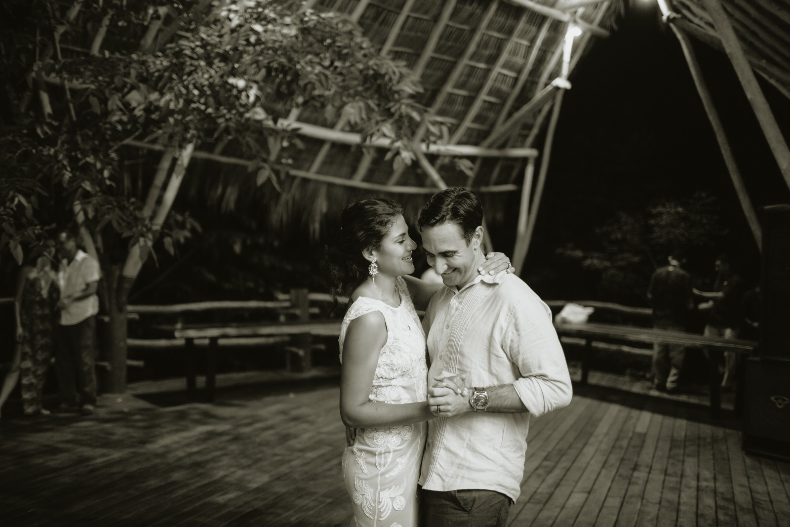 First Dance during the tropical wedding in Costa Rica
