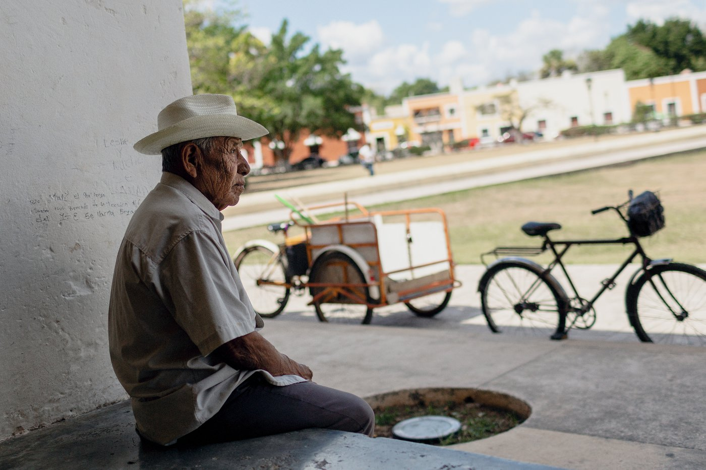 Local old man Mexico Valladolid