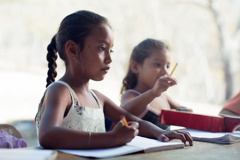 indigenous little girl doing classes - humanitarian photographer Costa Rica-Exposure.jpg