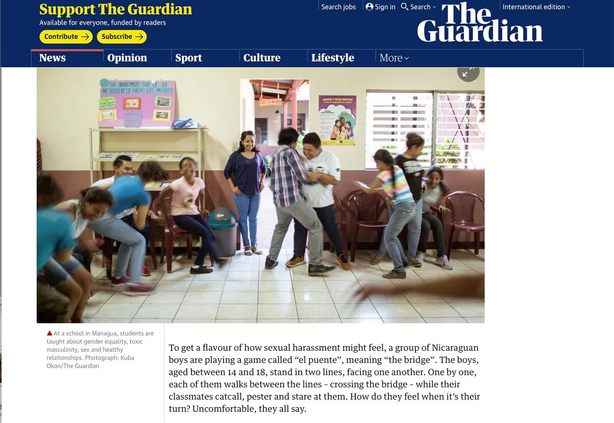 Assignment -  The Guardian Weekend   https://www.theguardian.com/education/2019/apr/27/sex-education-around-the-world