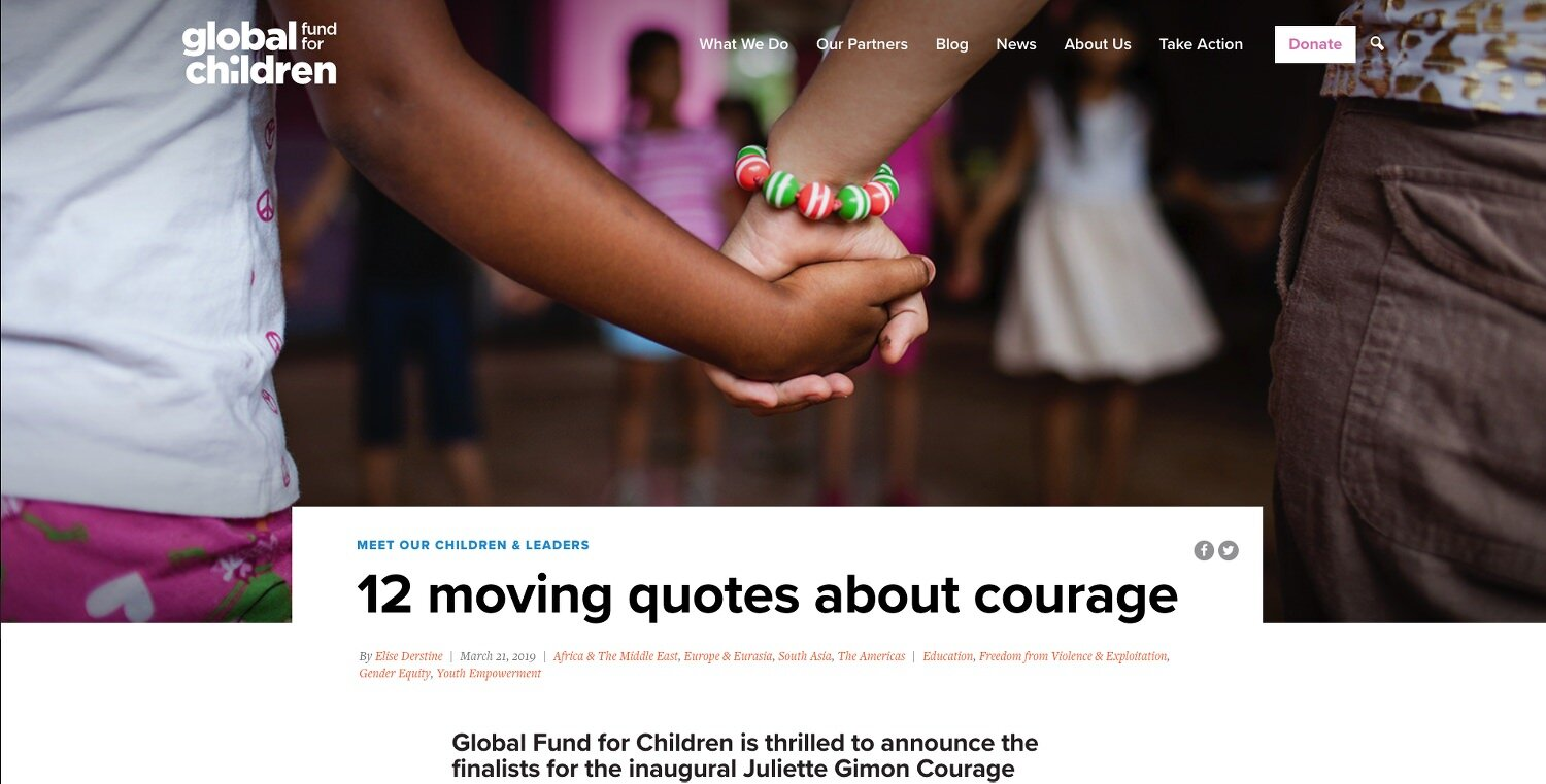 The Global Fund for Children  https://globalfundforchildren.org/story/12-moving-quotes-about-courage/