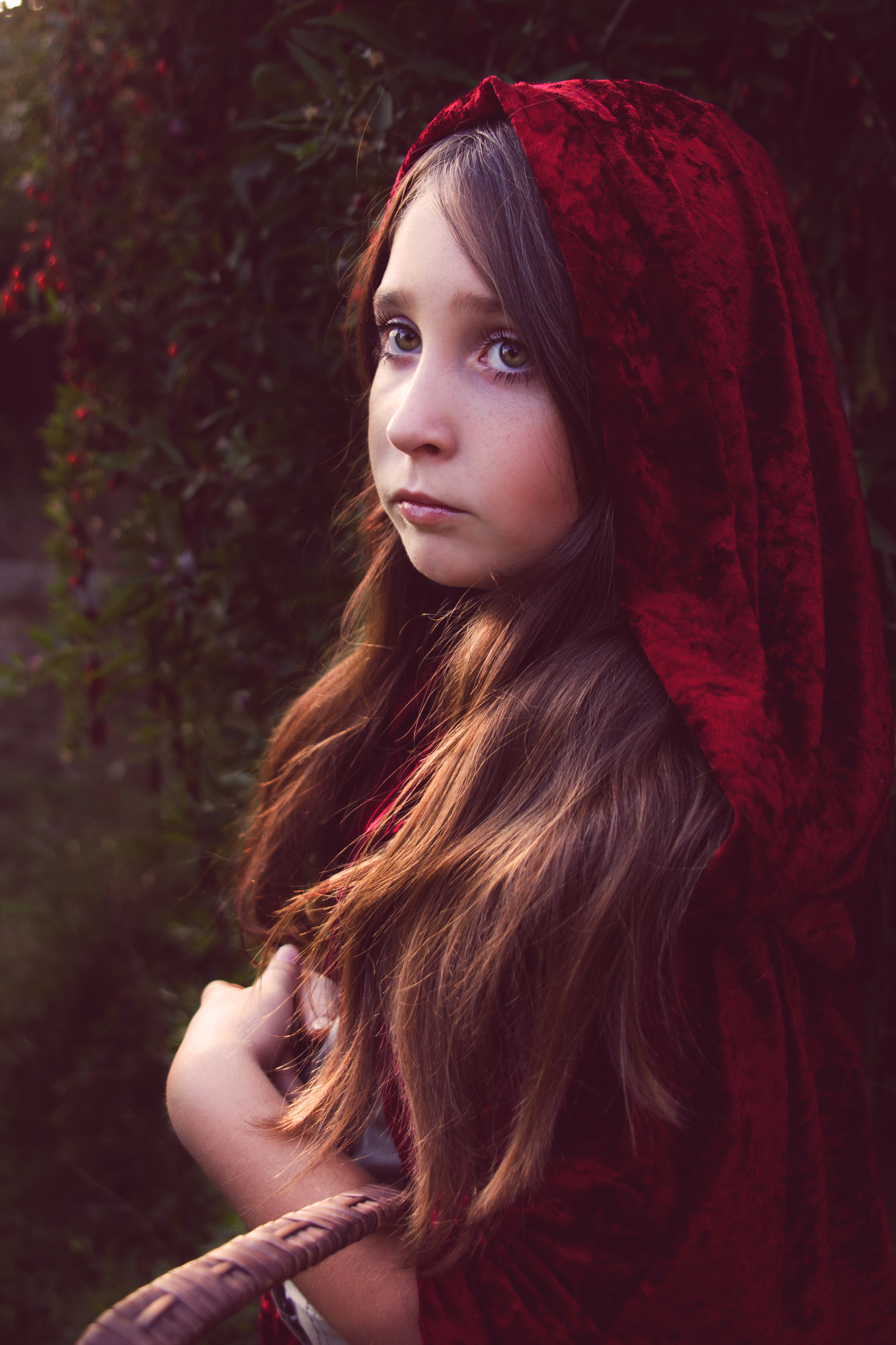 My niece Natalie as Little Red Riding Hood