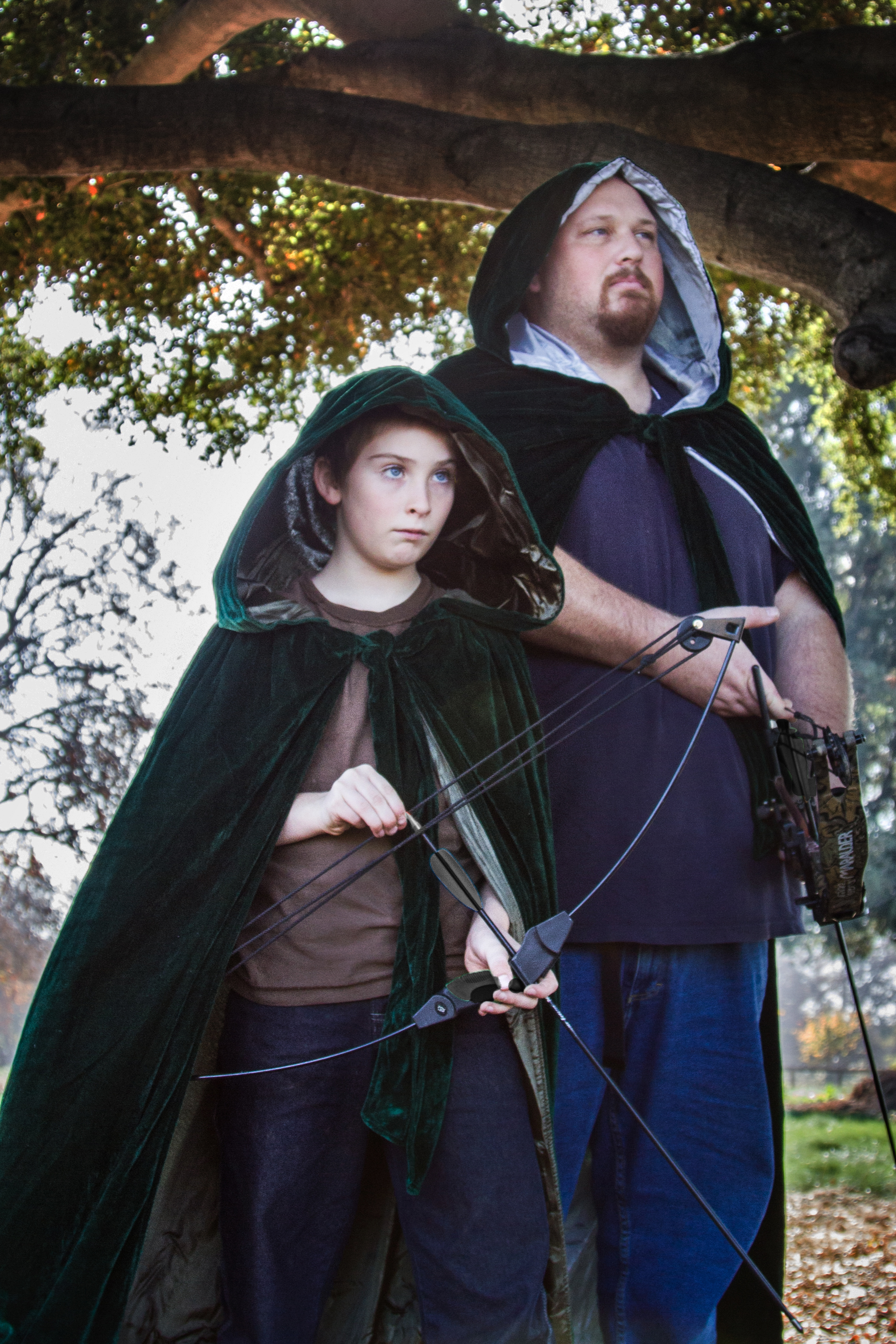 My nephew Ethan and my stepdad Alex as Robin Hood and Little John
