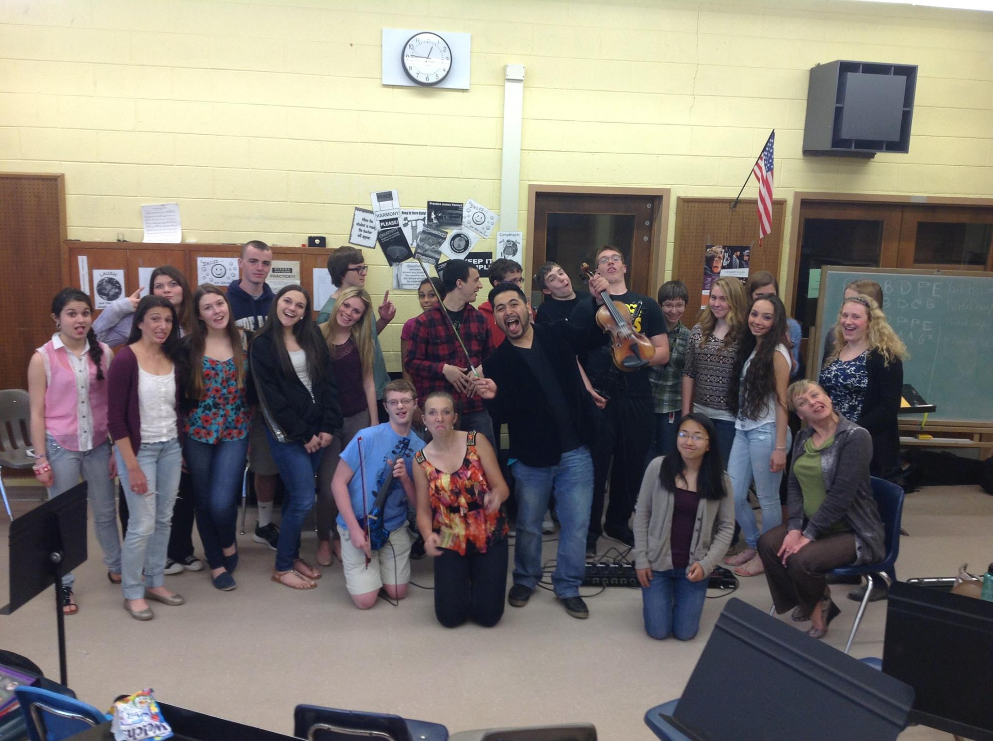A funny group photo with Sachem North HS