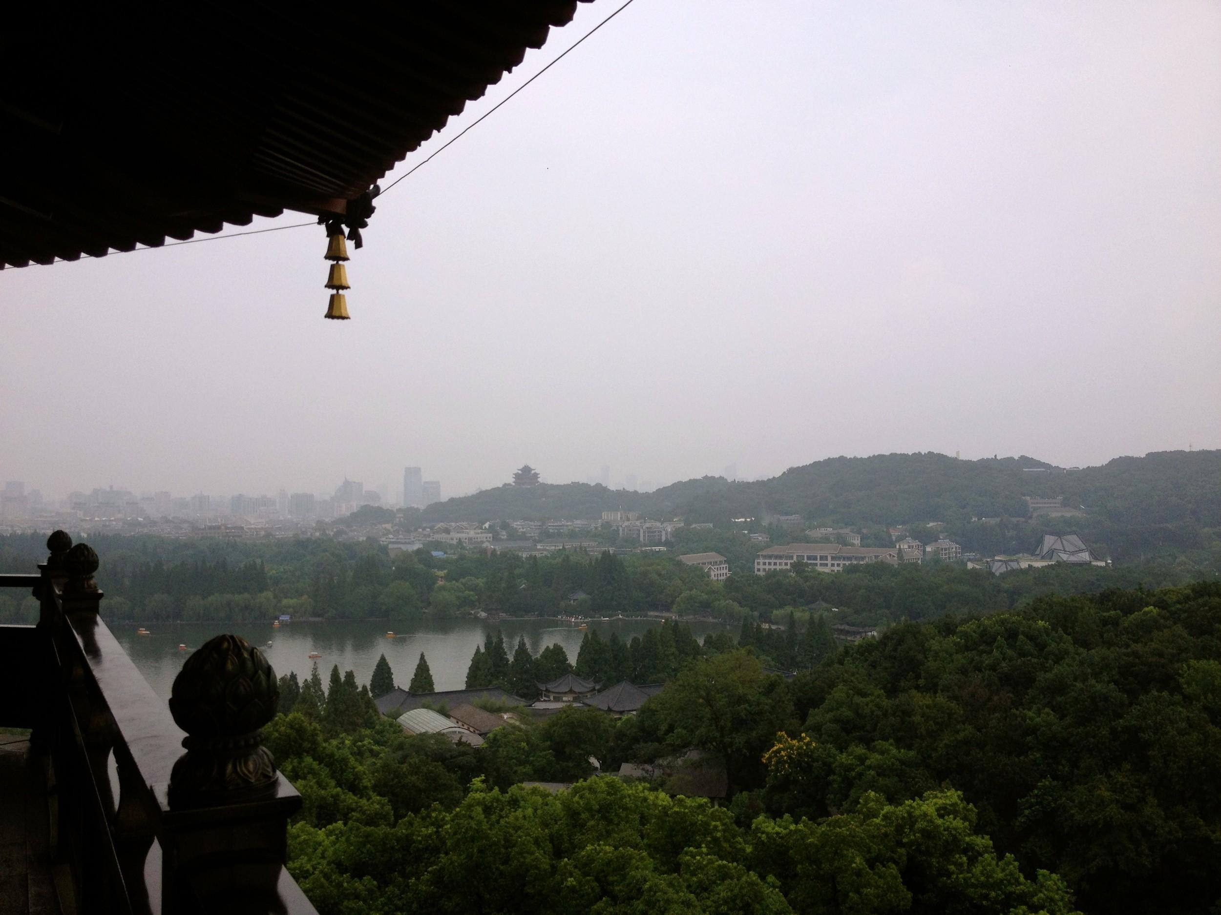 """Views from """"Lei Fen Ta"""" temple, Hangzhou"""