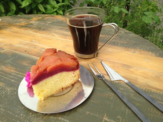 Chinese inspired cake at Spoonful of Sugar: Purple Potato & Pear Cake
