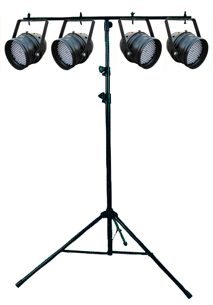 4X LED PARCAN ON A T-STAND $80