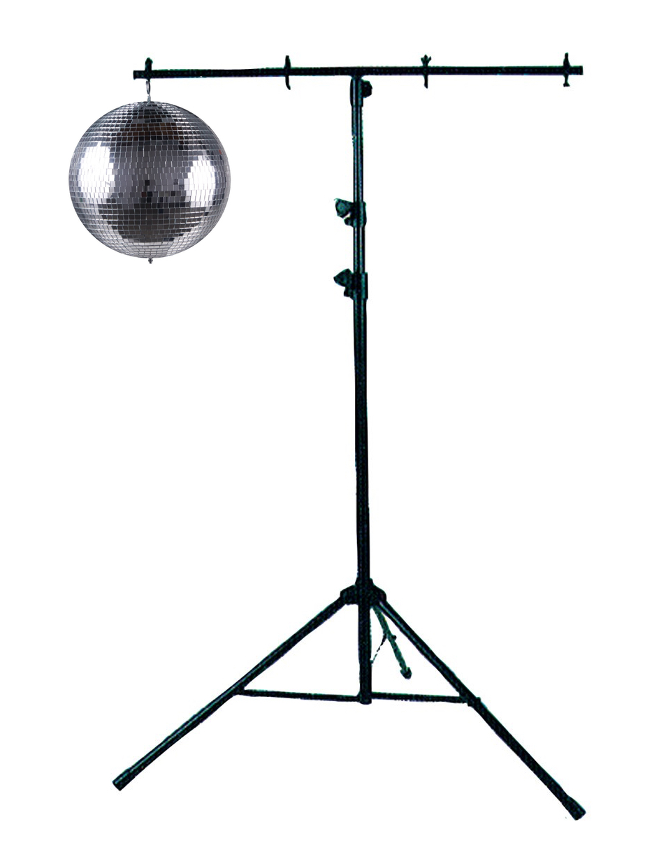 MIRROR BALL ON A T-STAND $65