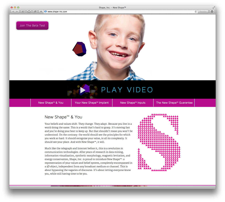 Shape, Inc. Website