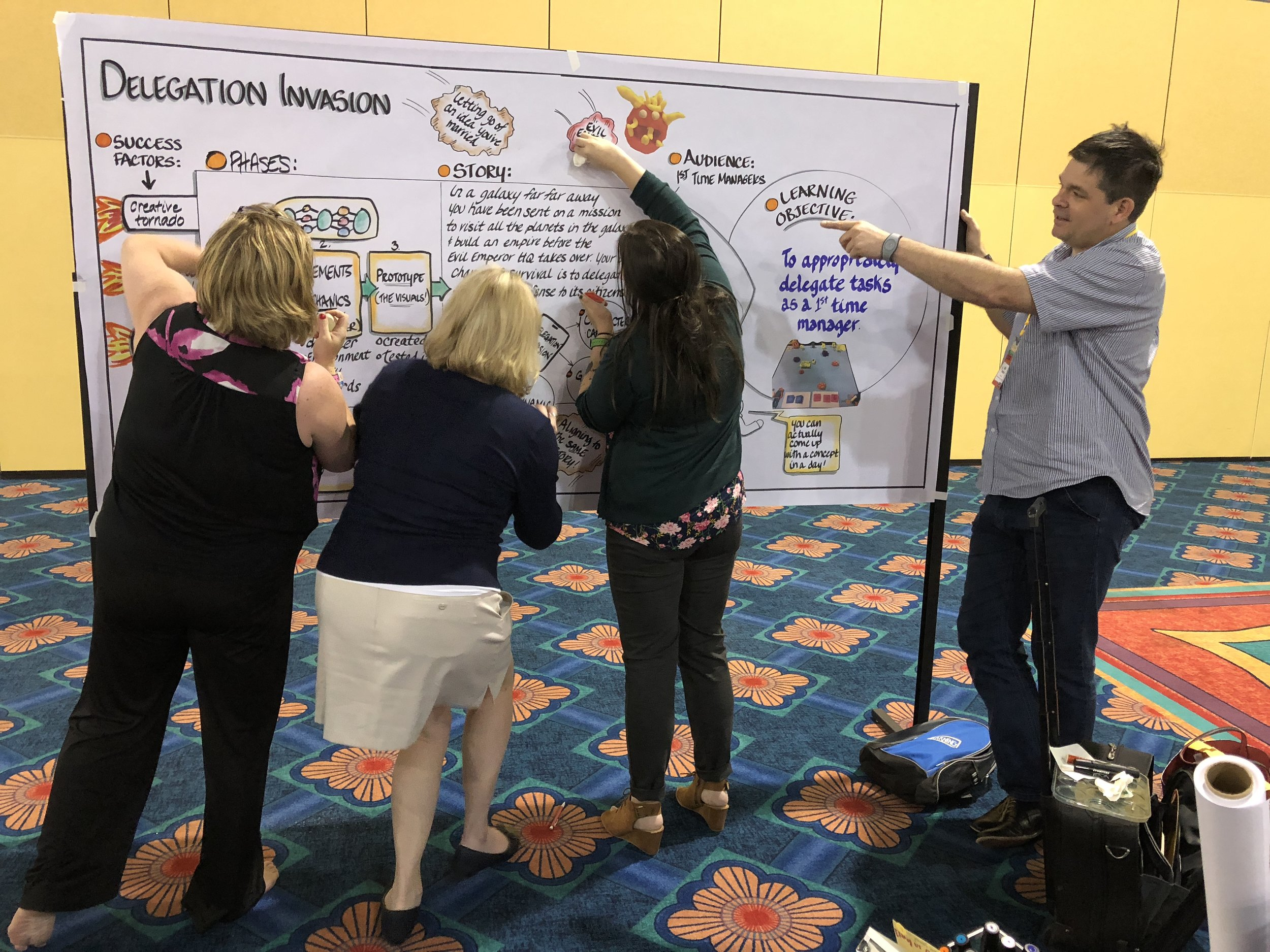 Learn how to make your meetings visible!   Add simple graphic facilitation methodologies to your toolbox to enhance your own training and facilitation techniques.