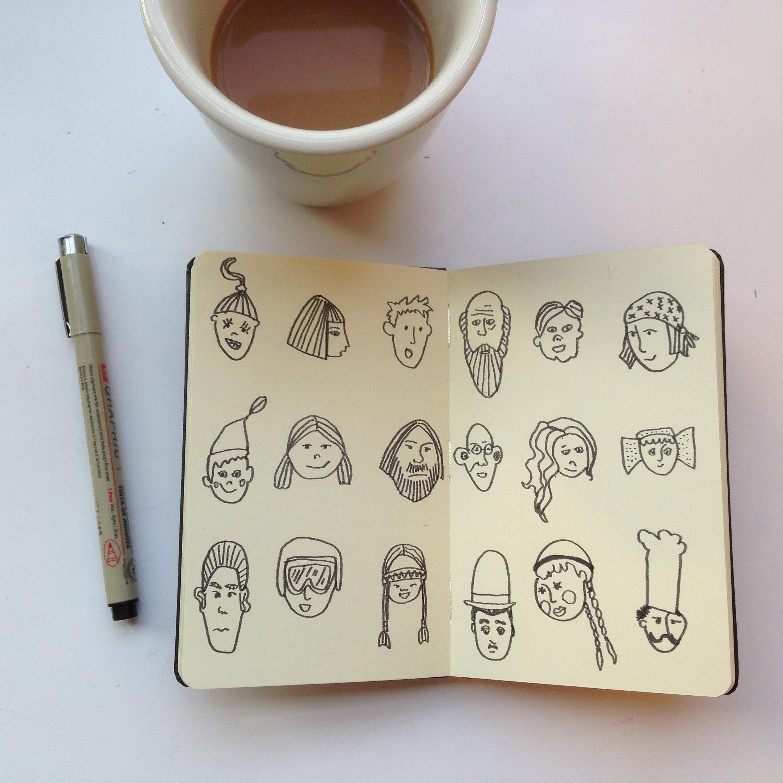 88/365 heads | year of creative habits
