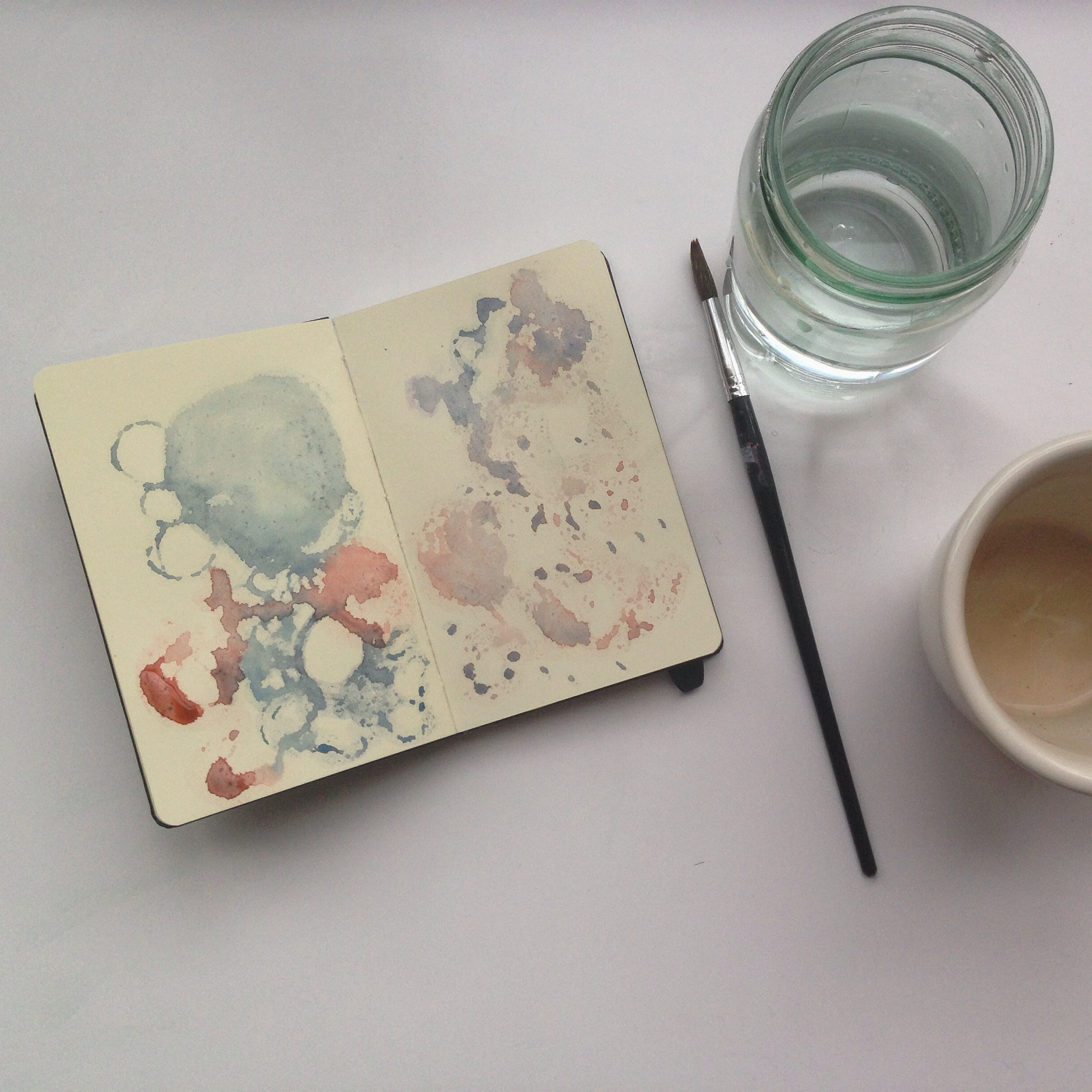 watercolor background 90/365 | year of creative habits