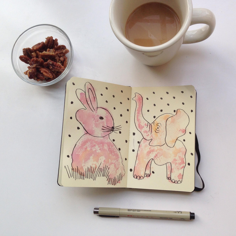 watercolor 93/365 | year of creative habits