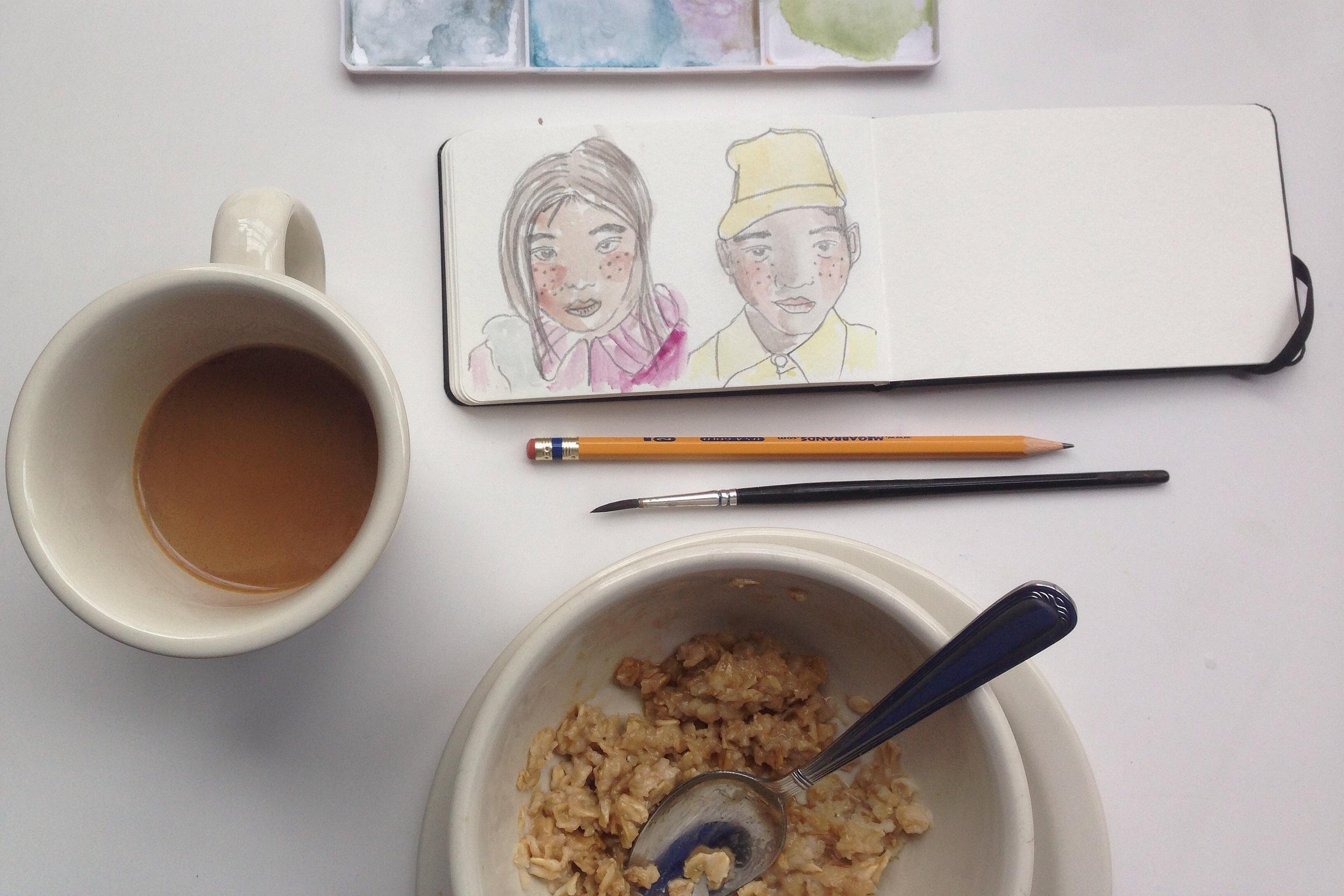 mid-oatmeal   year of creative habits