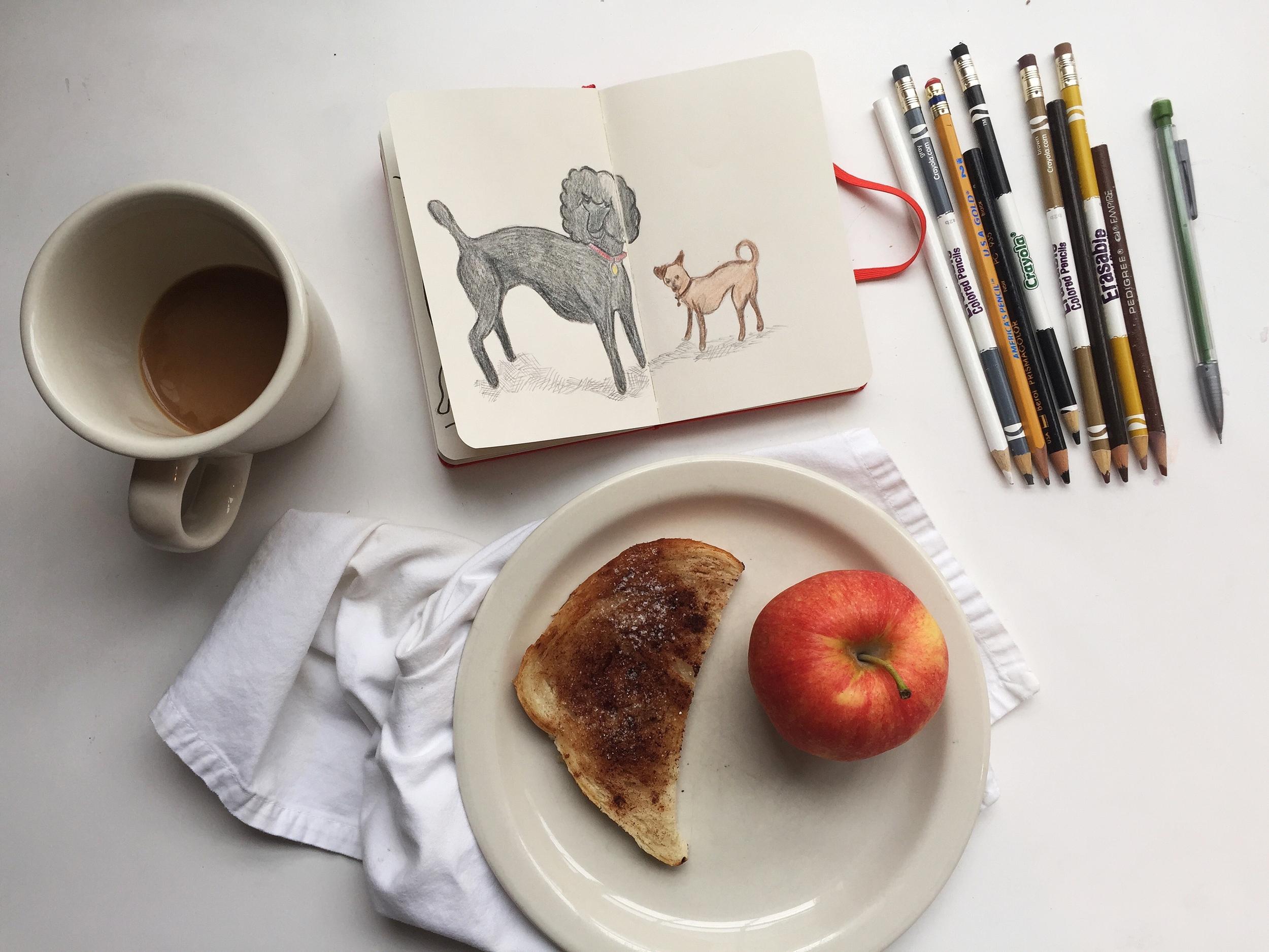 neighbor dogs | year of creative habits