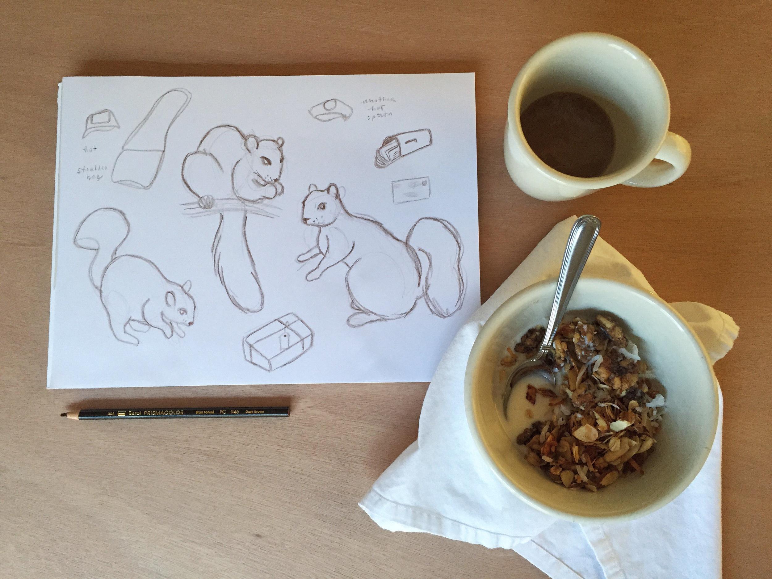 squirrels | year of creative habits