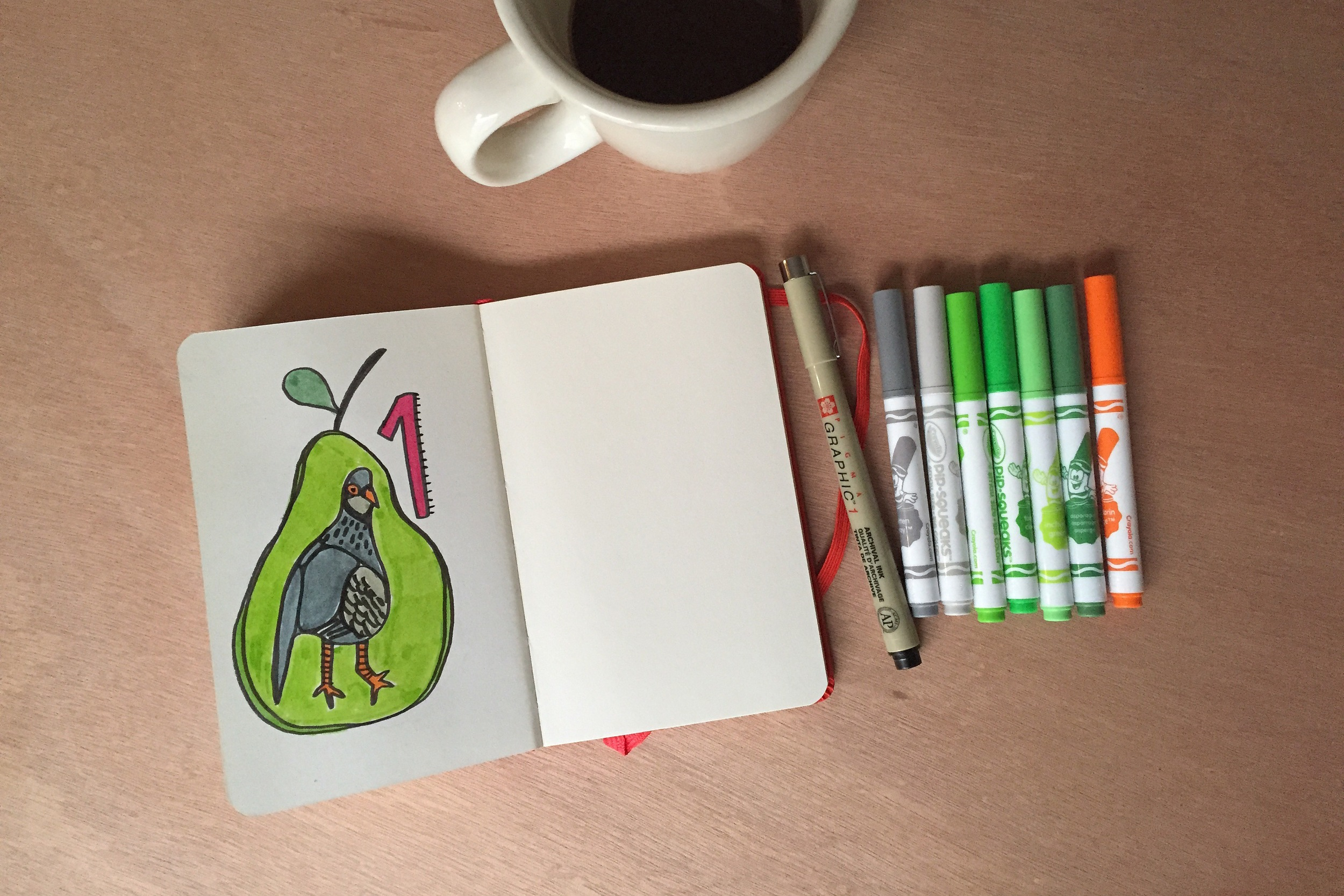 partridge in a pear | year of creative habits