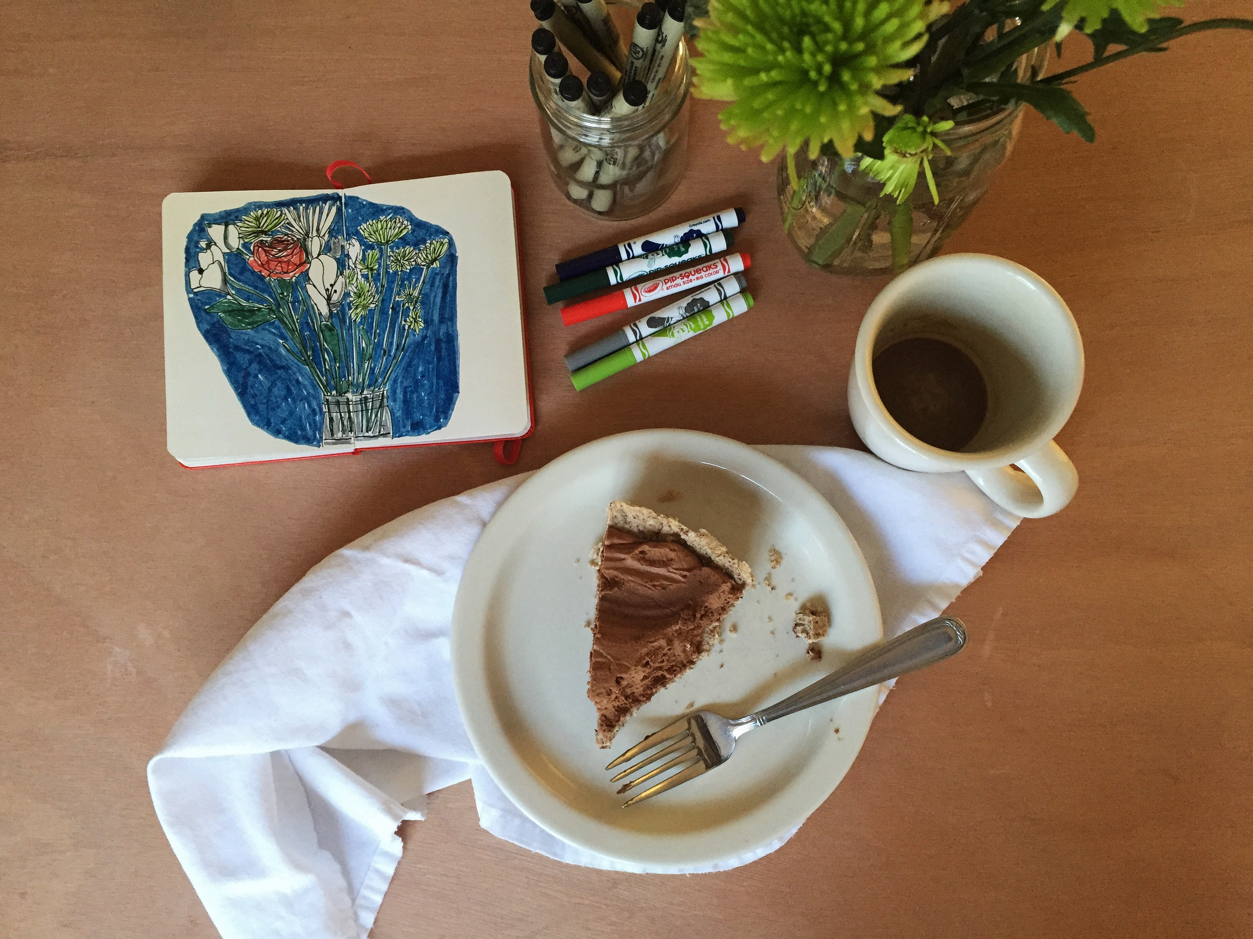 flowers and pie | year of creative habits