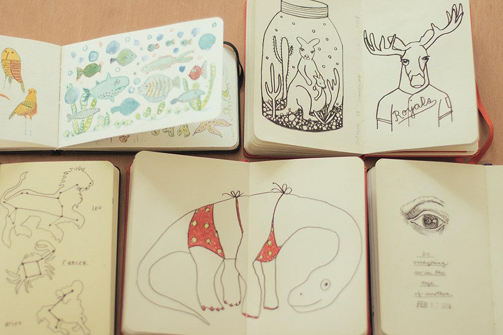 sketchbooks   year of creative habits