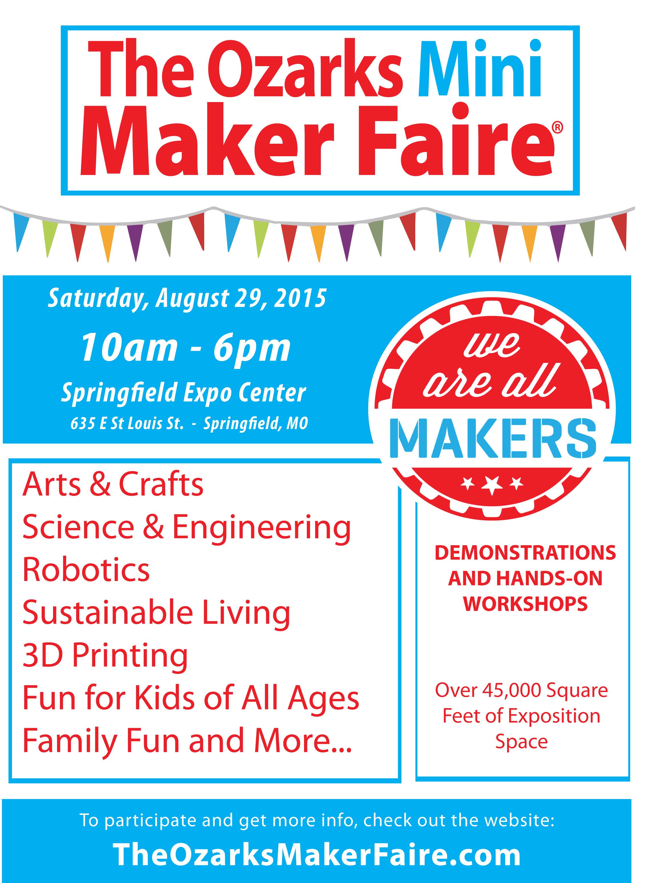 Ozarks Mini Maker Faire   Springfield MO