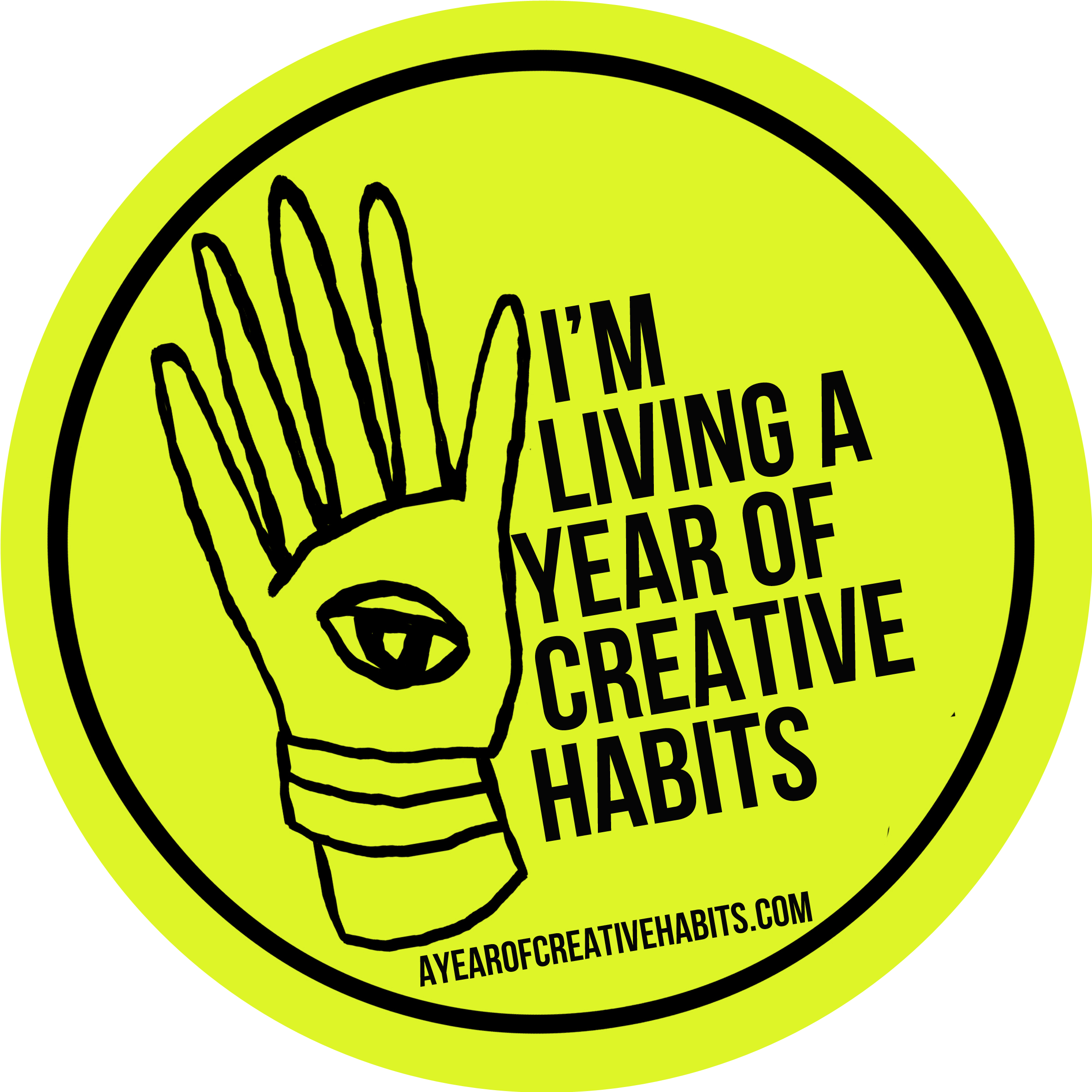 I'm living a year of creative habits