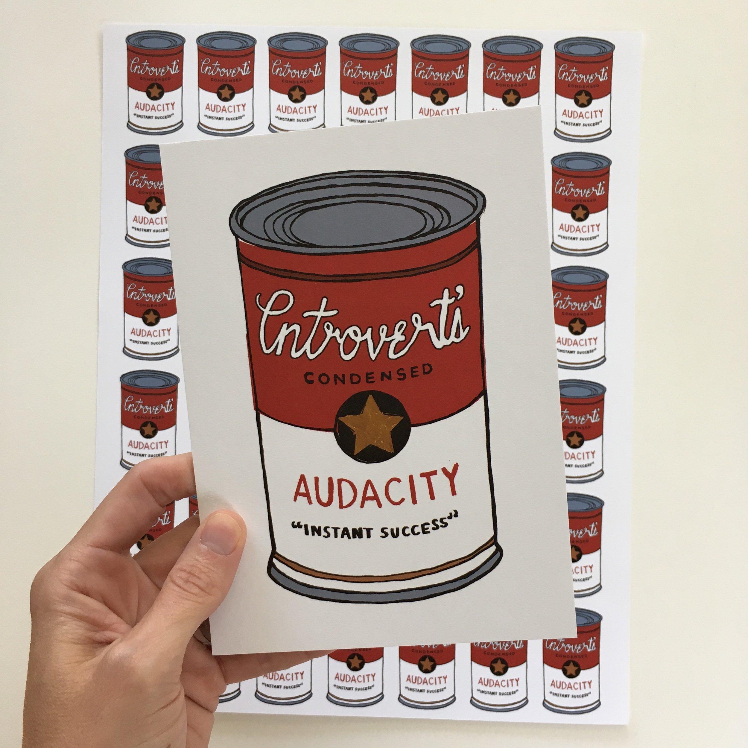 crystal moody | audacity can postcard