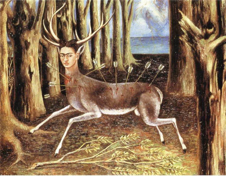 1946 the wounded deer   Frida Kahlo