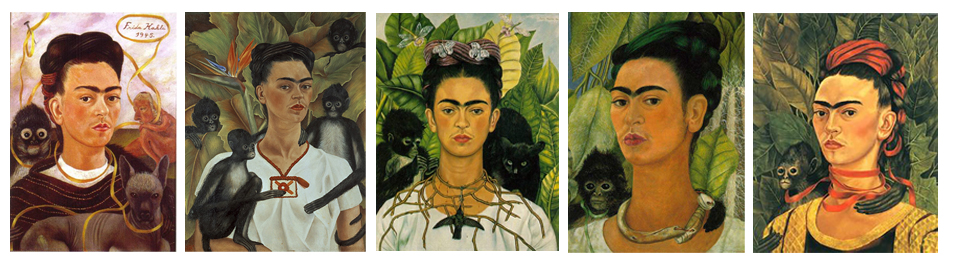 Frida Kahlo | self portraits with monkey
