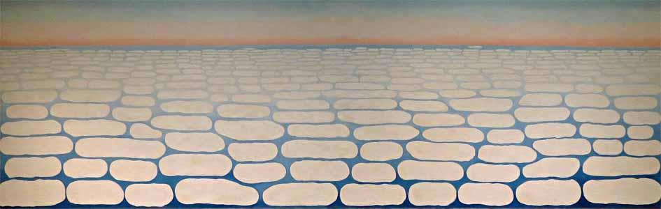 Georgia O'Keeffe   Sky Above Clouds IV, 1965