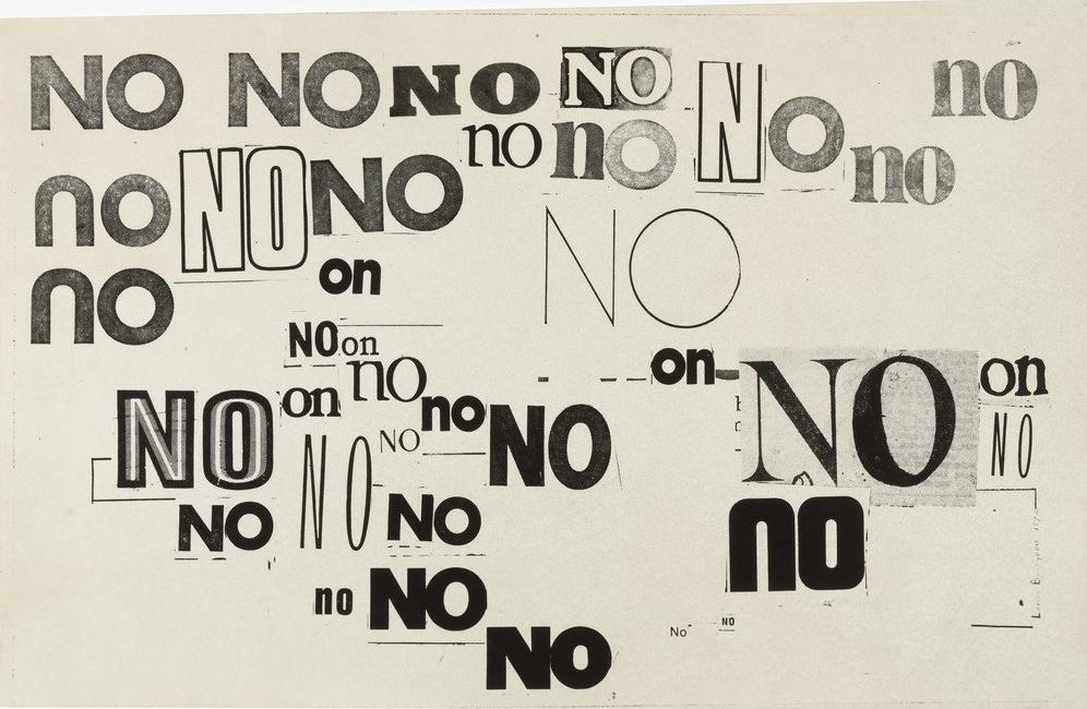 "Louise Bourgeois, ""No"" 1973."