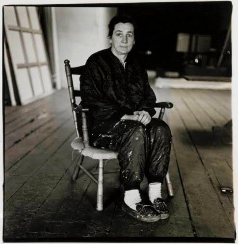 Agnes Martin by Diane Arbus 1966, the year before leaving NYC